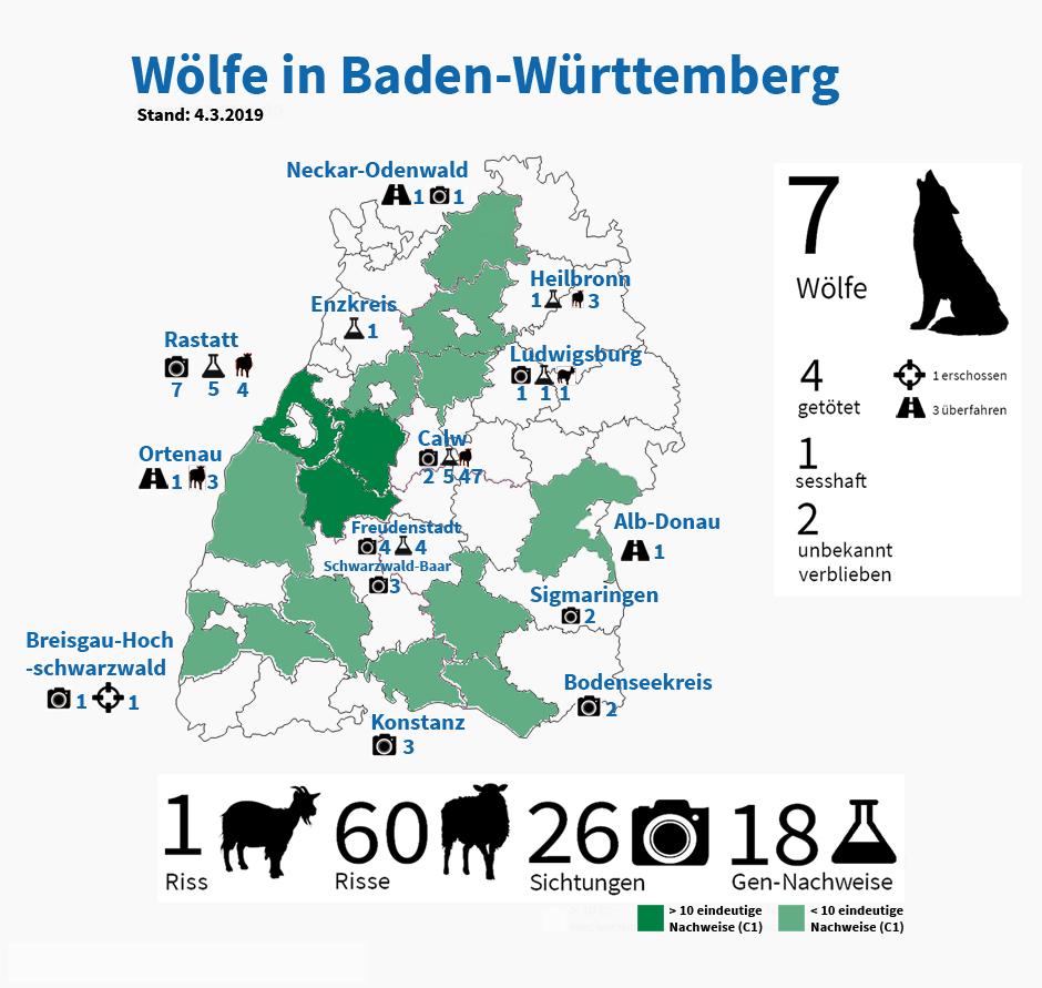 Baden Württemberg Karte.Wölfe Nabu Baden Württemberg