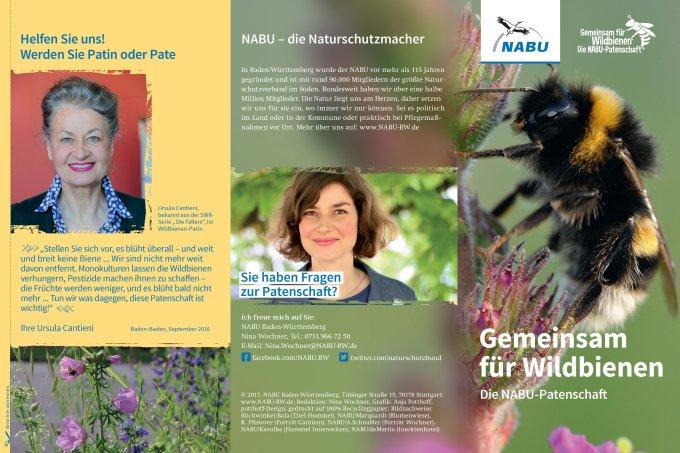 NABU-Flyer Wildbienen-Patenschaft