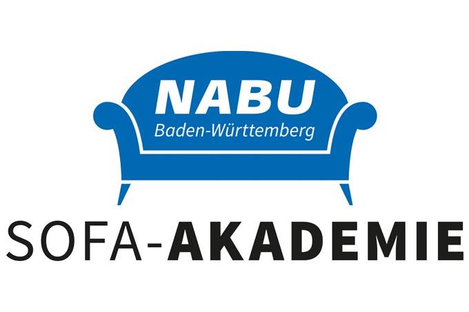 Mit der digitalen NABU-Sofa-Akademie mehr über Naturschutzthemen erfahren. - Logo: NABU BW